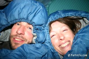 in Ladakh, night under the tent at 4000 meters high