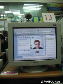 in Thailand, web communication on MSN Messenger